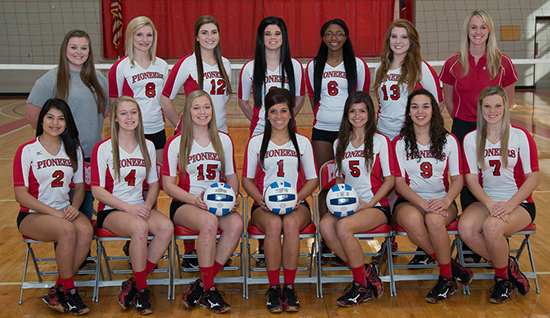 Pioneer Volleyball Team 2014-2015
