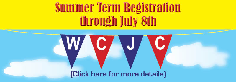 Summer Term Reg. through July 8th